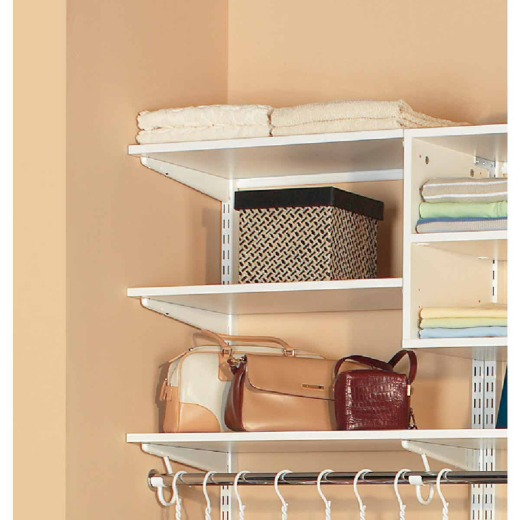 Organized Living FreedomRail 2 Ft. W. x 14 In. D Melamine Closet Shelf, White