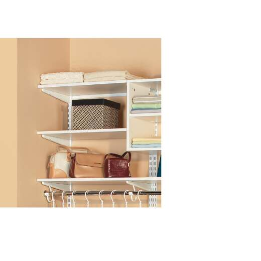 Organized Living FreedomRail 3 Ft. W. x 14 In. D Melamine Closet Shelf, White