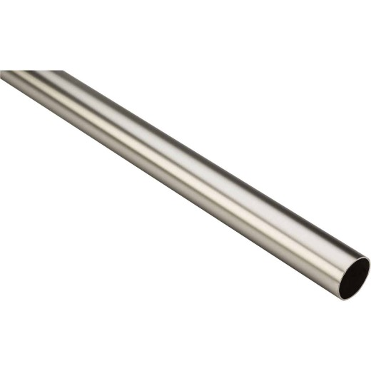 Stanley Home Designs 6 Ft. x 1-5/16 In. Cut-to-Length Closet Rod, Satin Nickel