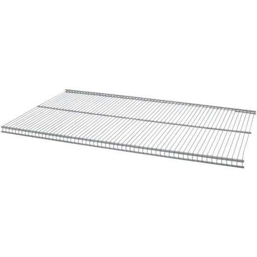 Organized Living FreedomRail 3 Ft. W. x 12 in. D Profile Ventilated Closet Shelf, Nickel