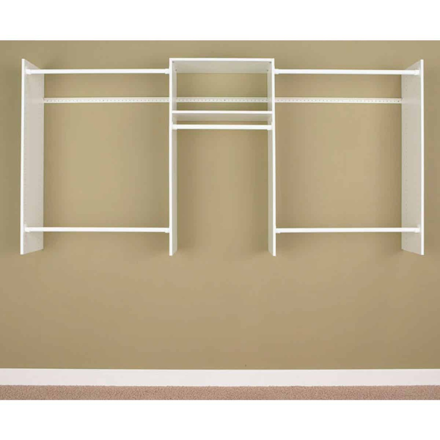 Easy Track 8 Ft. Basic Starter Closet System Image 1