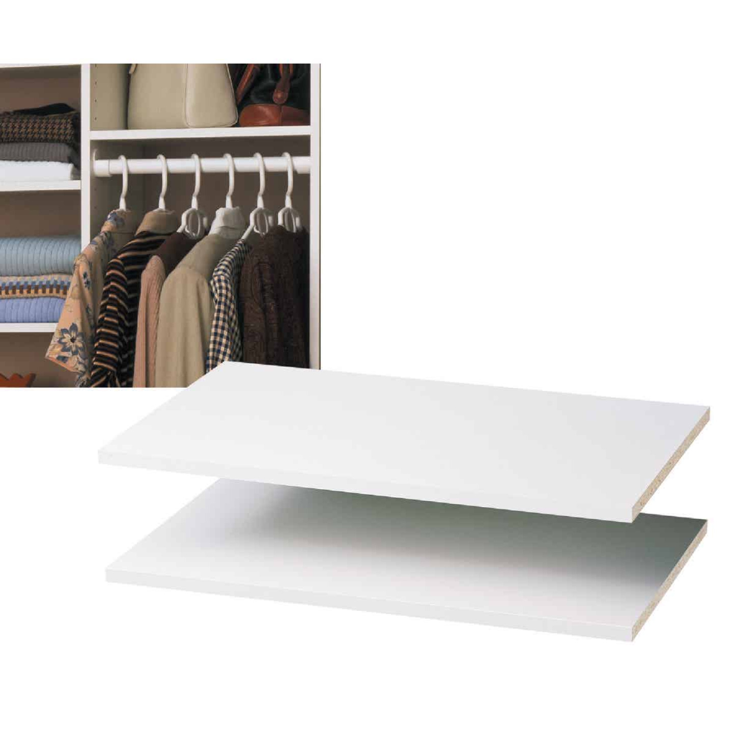 Easy Track 2 Ft. W. x 14 In. D. Laminated Closet Shelf, White (2-Pack) Image 1