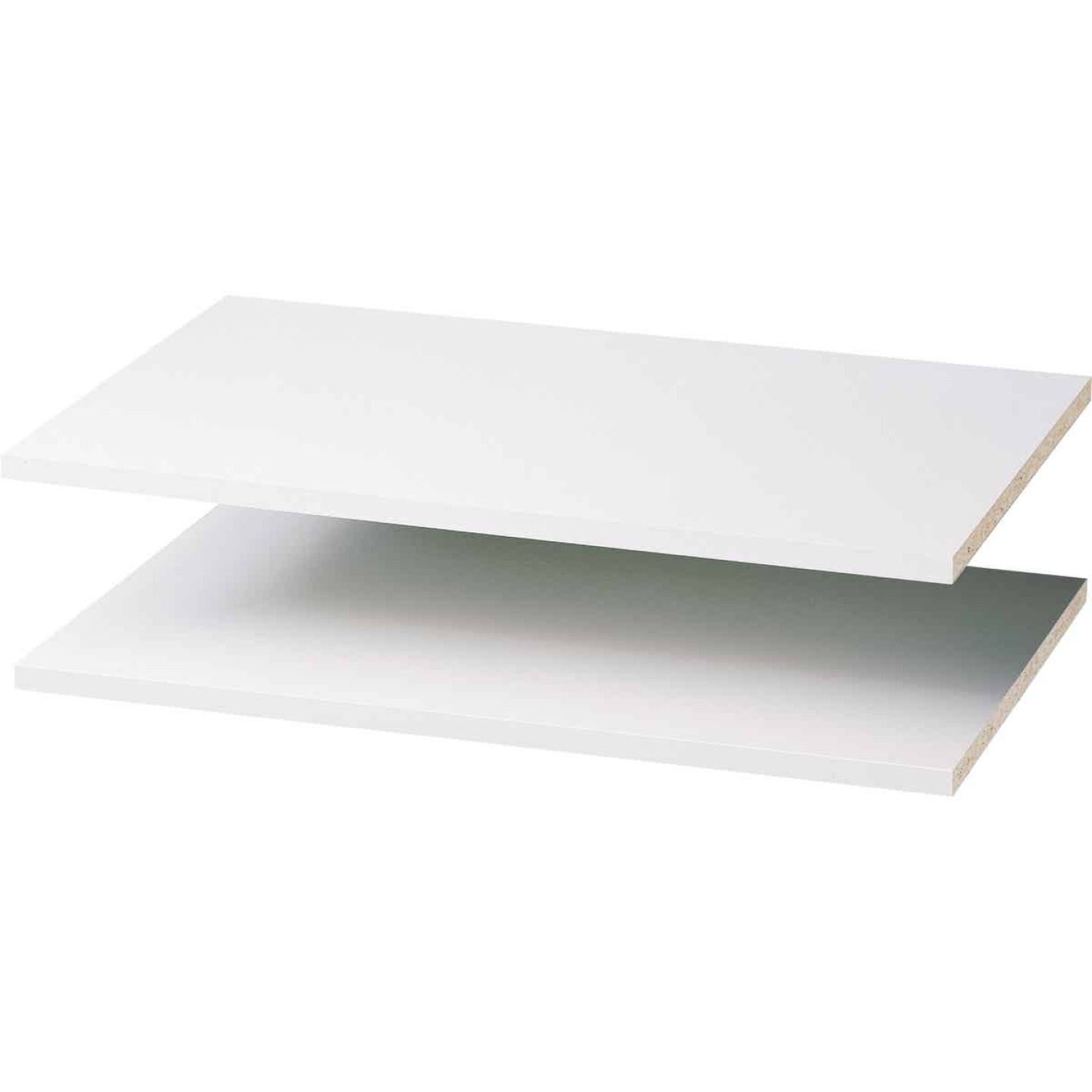 Easy Track 2 Ft. W. x 14 In. D. Laminated Closet Shelf, White (2-Pack) Image 2