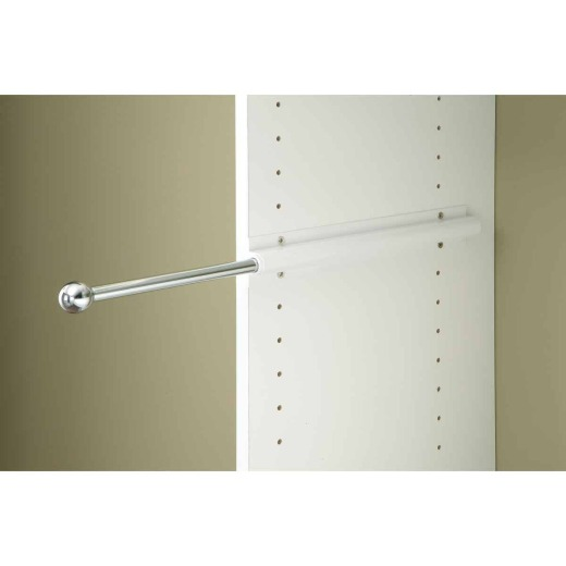 Easy Track 13 In. x 1 In. Sliding Valet Closet Rod, White