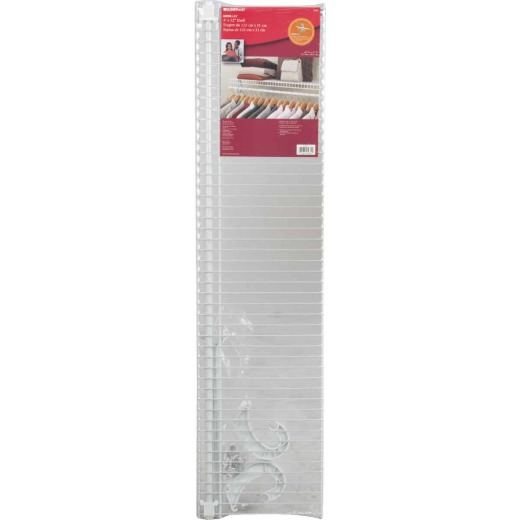 ClosetMaid SuperSlide 4 Ft. W. x 12 In. D. Ventilated Shelf Kit with Bar