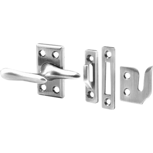 Prime-Line Satin Nickel Casement Window Lock With Keepers