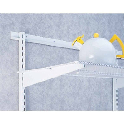 FreedomRail 16 In. White Twin Shelf Bracket