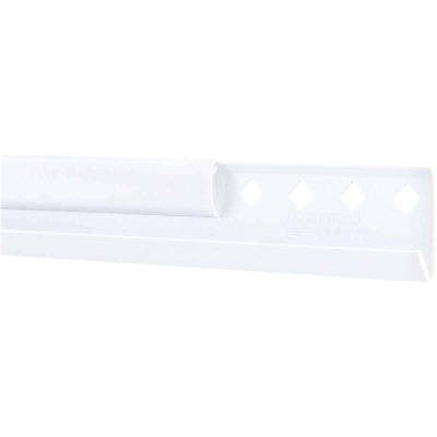 FreedomRail 60 In. White Horizontal Hanging Rail with Cover
