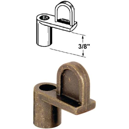 Prime-Line 3/8 In. Bronze Swivel Die-cast Screen Clips With Screws (12 Count)
