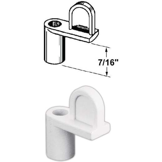 Prime-Line 7/16 In. White Swivel Die-cast Screen Clips With Screws (12 Count)