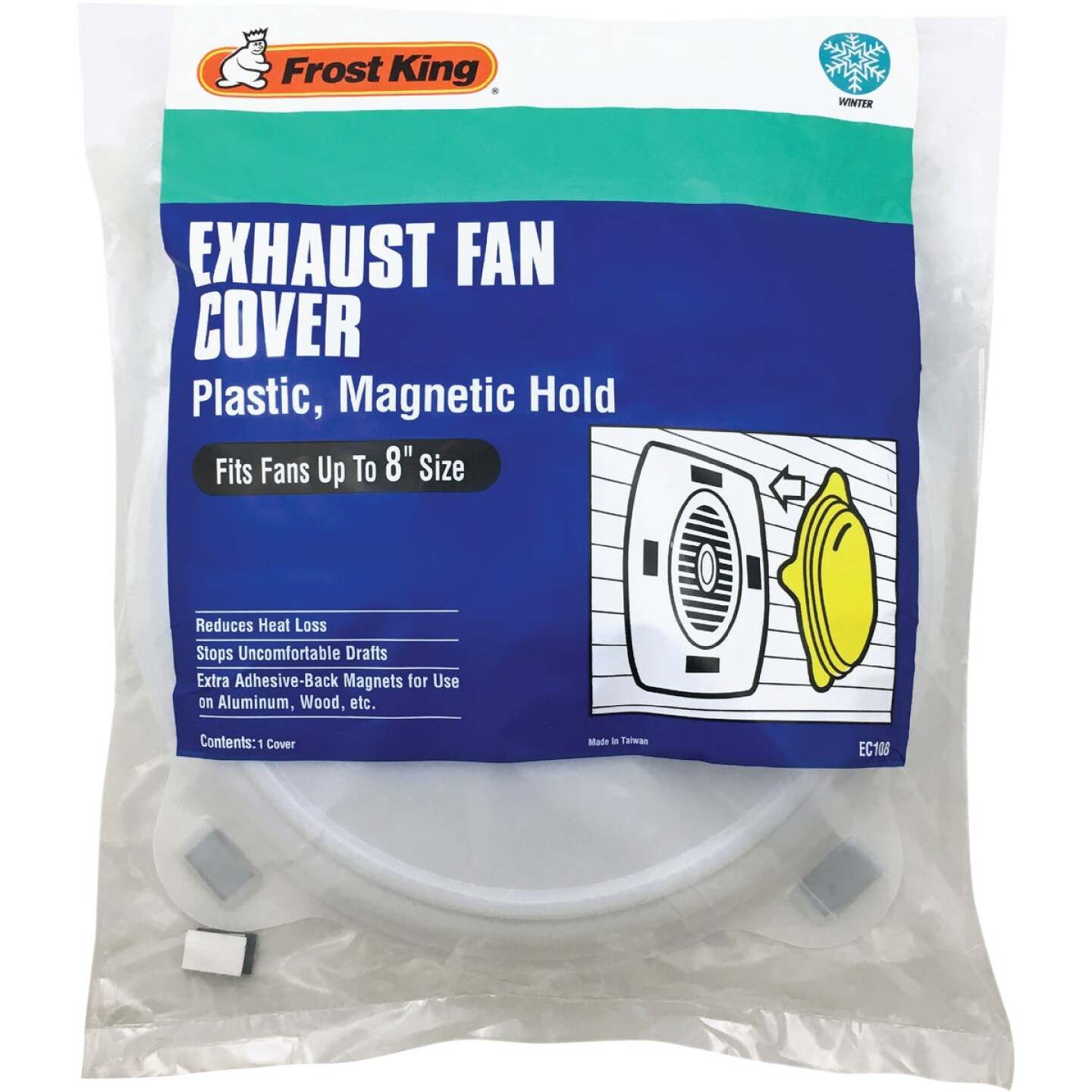 Frost King 10-1/4 In. Dia. White Plastic Exhaust Fan Cover Image 1