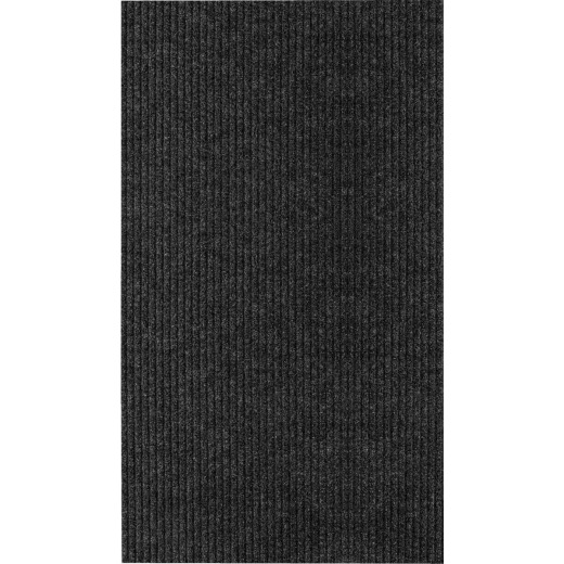 Multy Home Concord 26 In. x 45 Ft. Charcoal Carpet Runner, Indoor/Outdoor