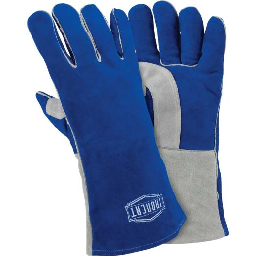 Ironcat 13.875 In. Blue/Gray Large Welding Gloves