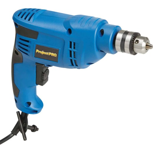 Project Pro 3/8 In. 4.6-Amp Keyed Electric Drill