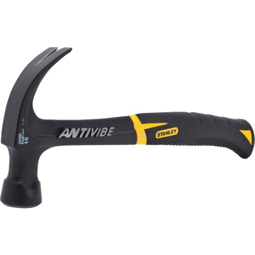 Stanley FatMax Anti-Vibe 16 Oz. Smooth-Face Curved Claw Hammer with Steel Handle