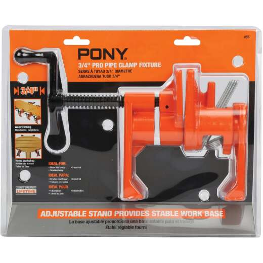 Pony Professional 3/4 In. Pipe Clamp Fixture with Crank Handle