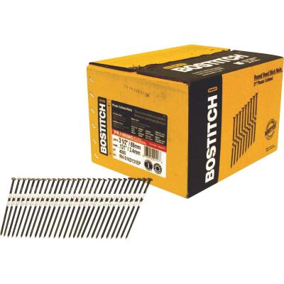 Bostitch 21 Degree Plastic Strip Coated Full Round Head Framing Stick Nails, 3-1/2 In. x .131 In. (4000 Ct.)