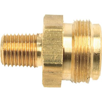 MR. HEATER 1 In.-20 MTCT x 1/4 In. MPT Brass LP Cylinder Adapter