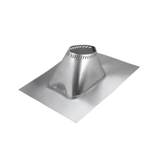 SELKIRK 6 In. Aluminum Adjustable Roof Pipe Flashing, 2/12 to 6/12 Roof Pitch