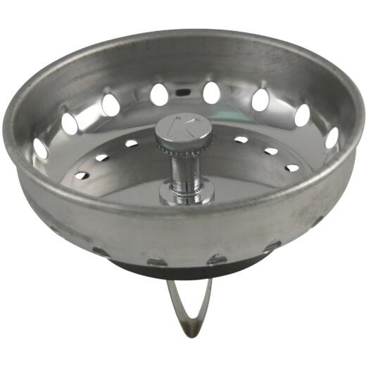 Do it Best Stainless Steel Spring Action Basket Strainer Stopper