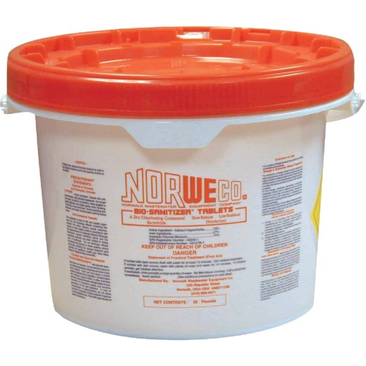 Norweco Disinfecting Tablet 25 Lb. Sewer Line Cleaner