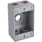 Bell Single Gang 1/2 In. 5-Outlet Gray Aluminum Weatherproof Outdoor Outlet Box Image 1