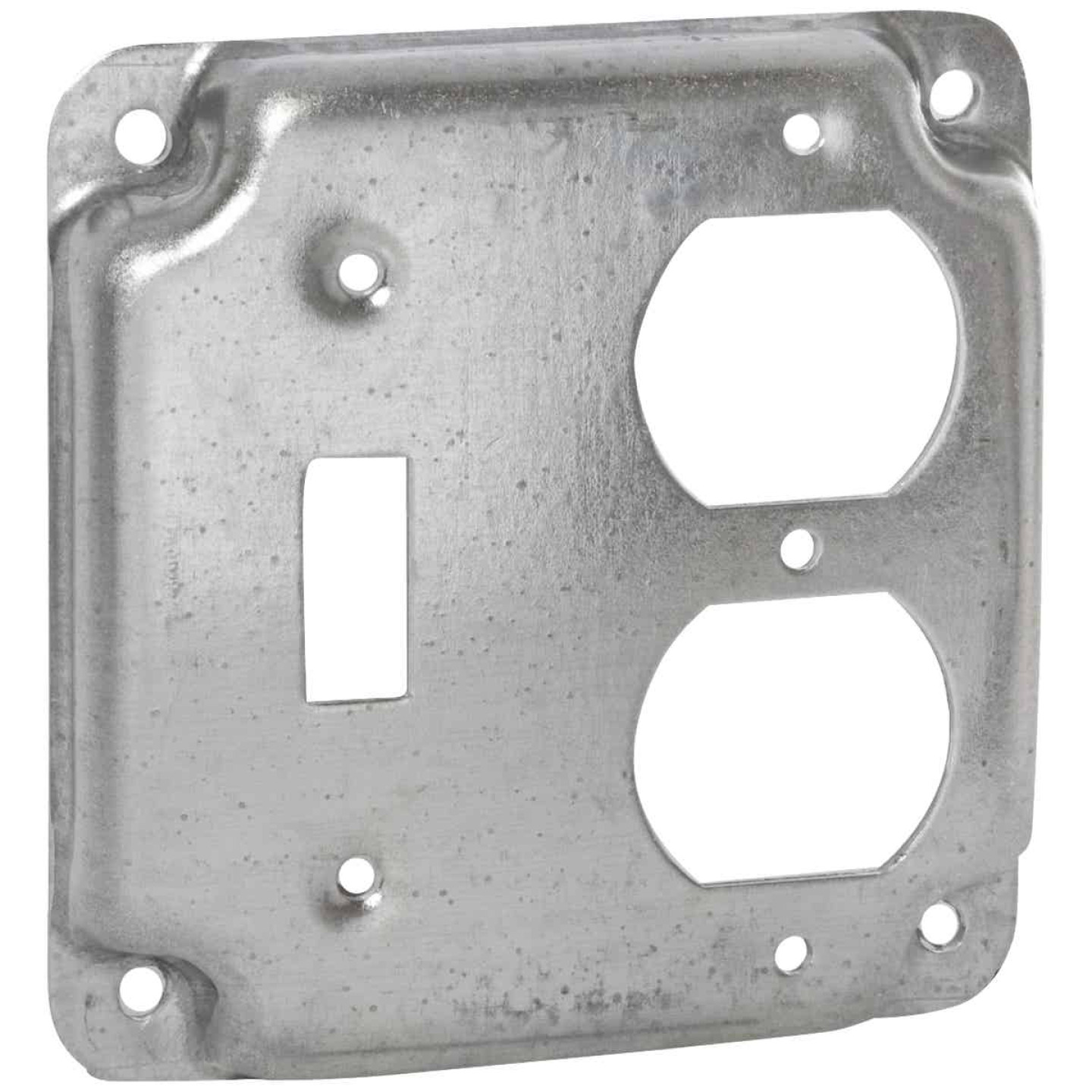 Raco Toggle Switch/Duplex Outlet 4 In. x 4 In. Square Device Cover Image 1