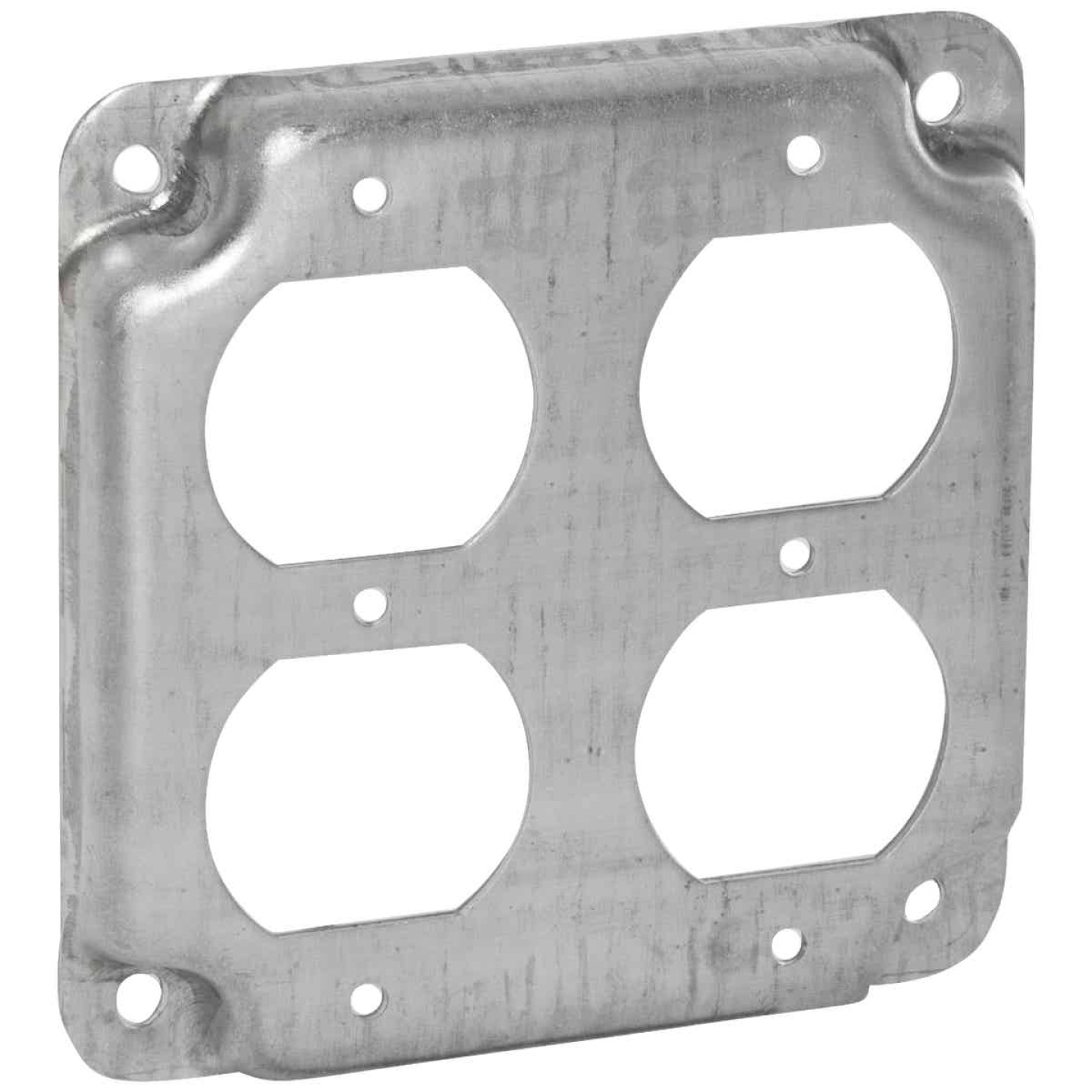 Raco 2-Duplex Receptacles 4 In. x 4 In. Square Device Cover Image 1