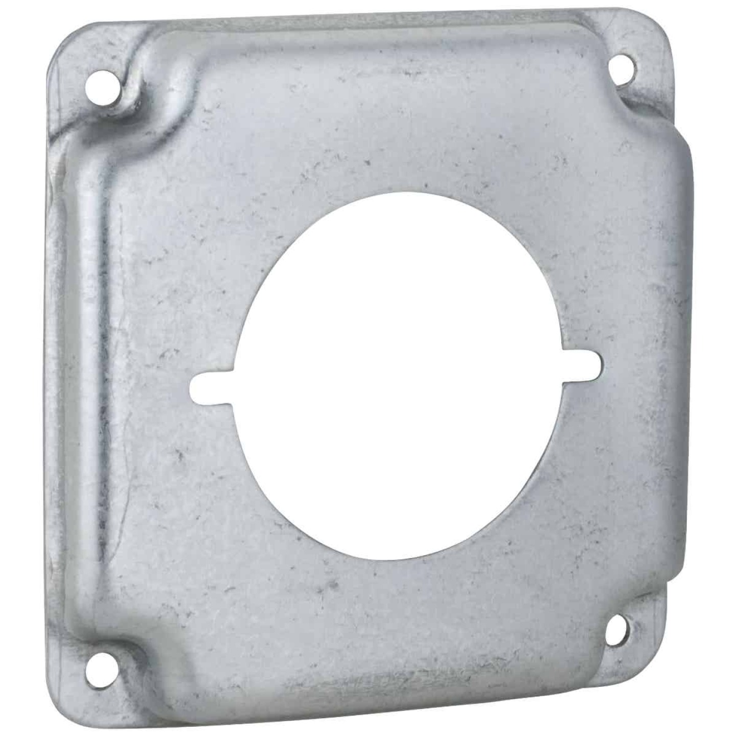 Raco 2.156 In. Dia. Receptacles 4 In. x 4 In. Square Device Cover Image 1