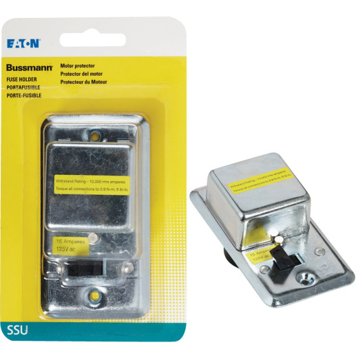 Bussmann 125V 15A 2-1/4 In. Handy Box Fuse Holder Cover Plate