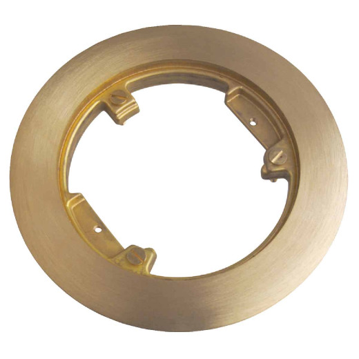 Steel City 5-1/4 In. Polished Brass Model No. 68P Carpet Flange