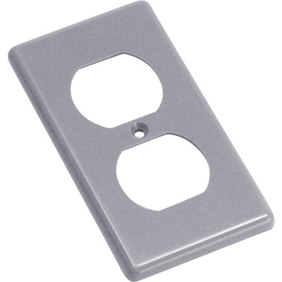 Steel City Duplex Outlet 4-1/4 In. x 2-5/16 In. Handy Box Cover