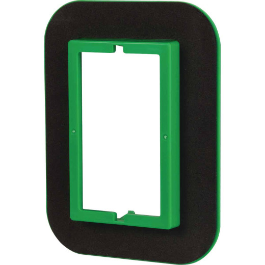 Madison Electric 1-Gang PVC Rectangle Electrical Wall Box Draft Seal