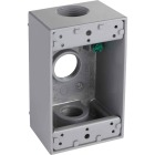 Bell Single Gang 3/4 In. 3-Outlet Gray Aluminum Weatherproof Outdoor Outlet Box Image 1