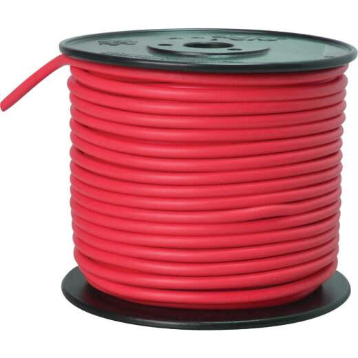 ROAD POWER 100 Ft. 10 Ga. PVC-Coated Primary Wire, Red