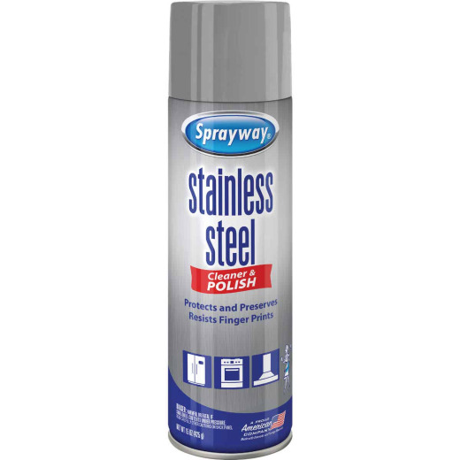 Sprayway 15 Oz. Water-Based Stainless Steel Cleaner & Polish