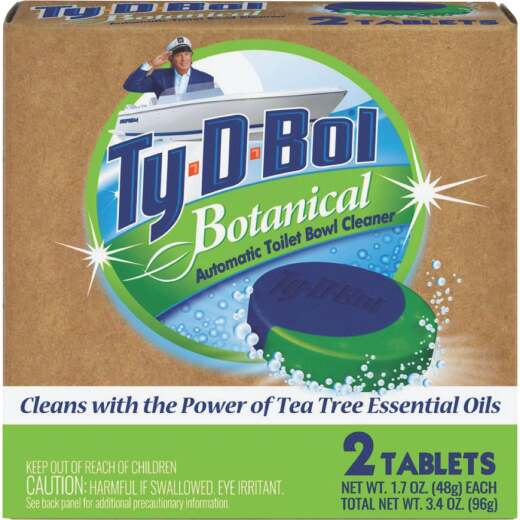 Ty-D-Bol Natural Automatic Toilet Bowl Cleaning Tablets (2-Pack)