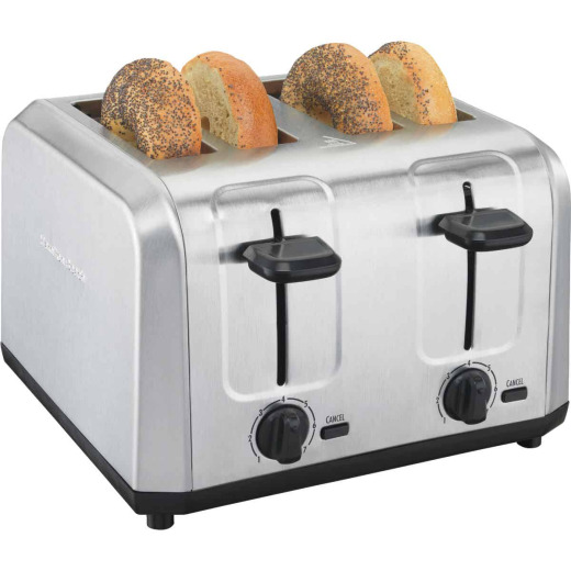 Hamilton Beach 4-Slice Brushed Stainless Steel Toaster