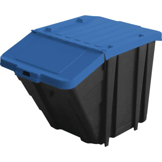 GSC 16 Gal. Stackable Hinged Cover Tote