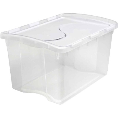 Sterilite 48 Qt. Clear Flip Top Storage Tote