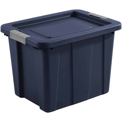 Sterilite Tuff1 18 Gal. Dark Indigo Latching Tote with Titanium Latches