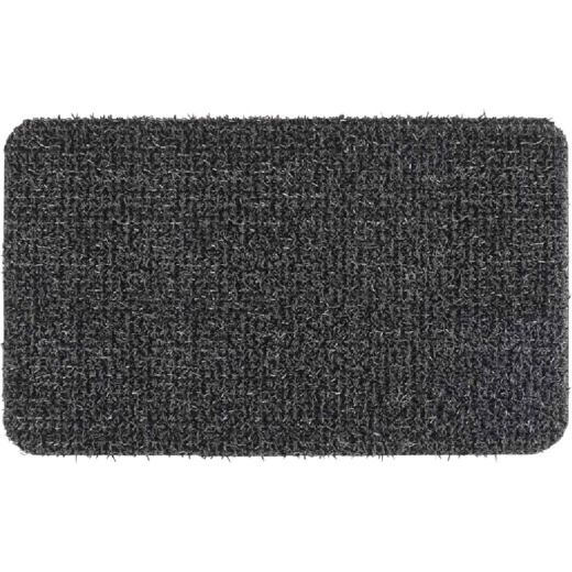 GrassWorx Clean Machine Classic Flint 17.5 In. x 23.5 In. AstroTurf Door Mat