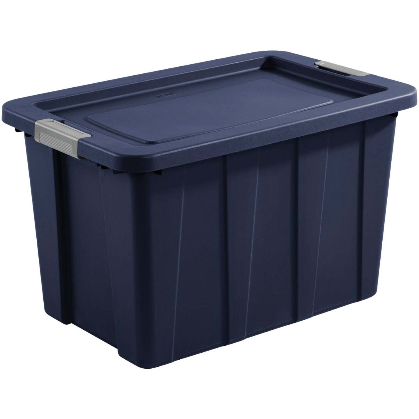 Sterilite Tuff1 30 Gal. Dark Indigo Latching Tote with Titanium Latches Image 1