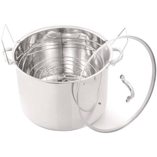 McSunley 21.5 Qt. Prep-n-Cook Stainless Steel Canner with Jar Rack