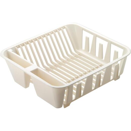 Rubbermaid 12.65 In. x 13.92 In. Bisque Plastic Twin Sink Dish Drainer