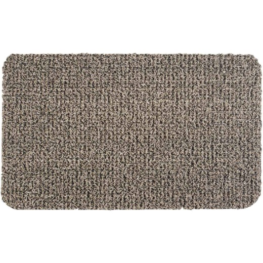 GrassWorx Clean Machine Classic Earth Taupe 24 In. x 35.5 In. AstroTurf Door Mat
