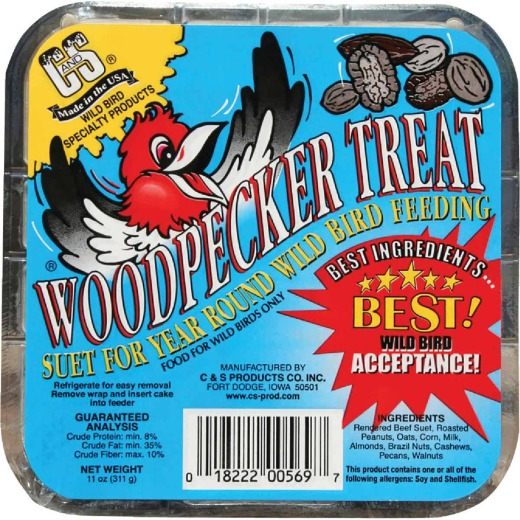 C&S 11 Oz. Woodpecker Treat Suet