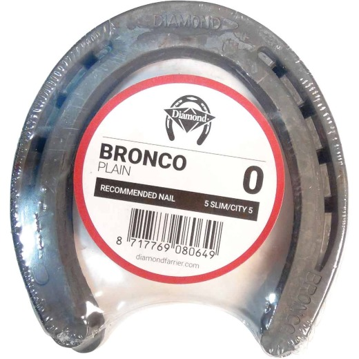 Diamond Plain Bronco Front & Hind 5 In. Horseshoe (1-Pair)