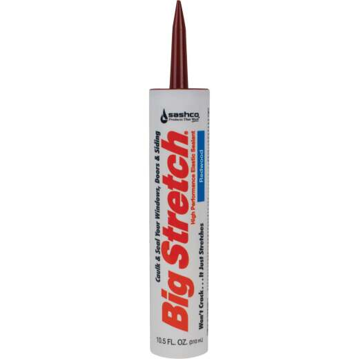 Sashco Big Stretch 10.5 Oz. Acrylic Elastomeric Caulk, Redwood
